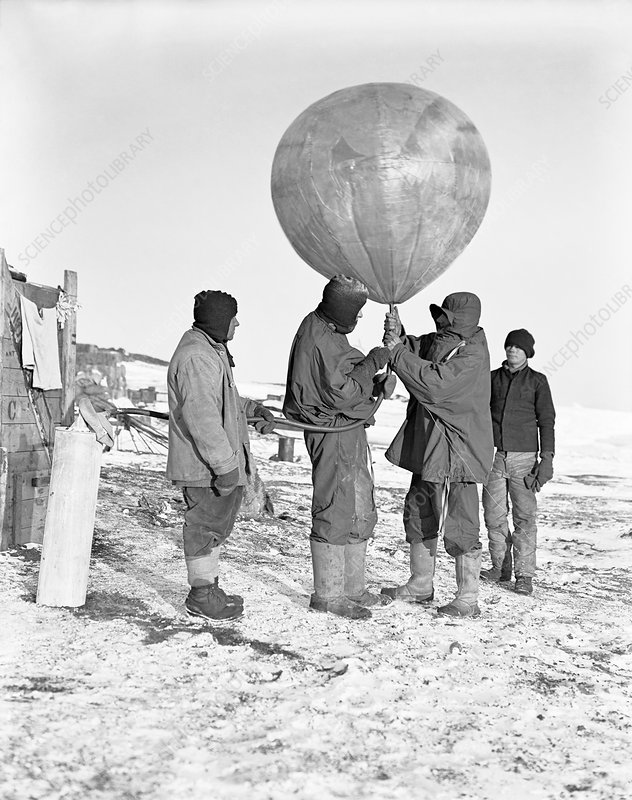 Antarctic weather balloon research, 1911
