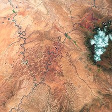 Canyonlands, Utah, satellite image