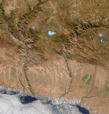 Canyons, Peru, satellite image