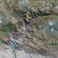 Colca Canyon, Peru, satellite image