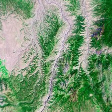 Hells Canyon, satellite image