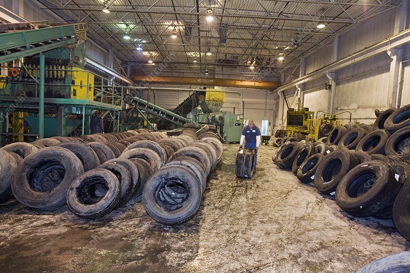 Tyre recycling facility
