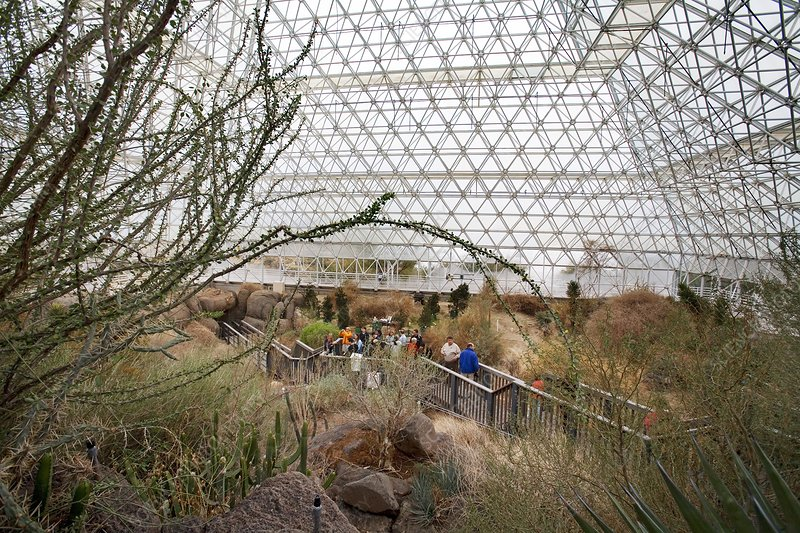 Visitors at Biosphere 2