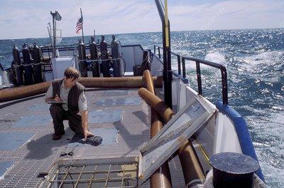 Fish stocking in lake michigan usa stock image c021 for Michigan fish stocking