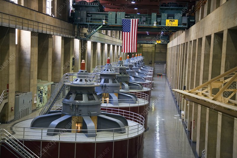 Hoover dam turbine hall