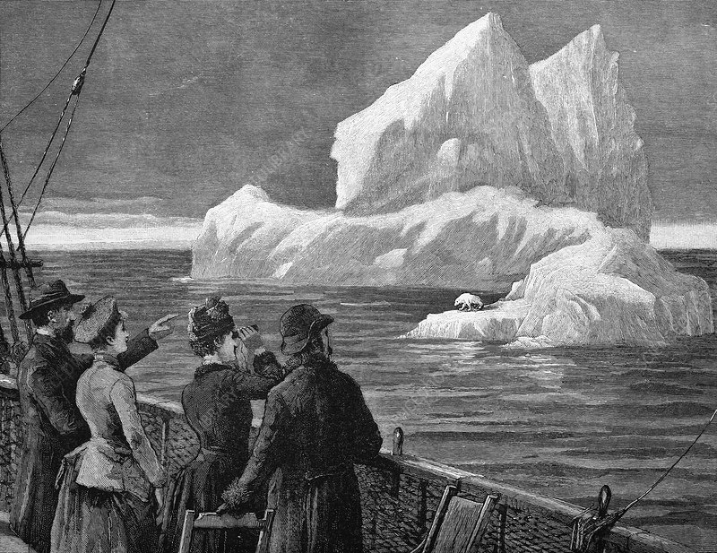Atlantic iceberg, 19th century artwork