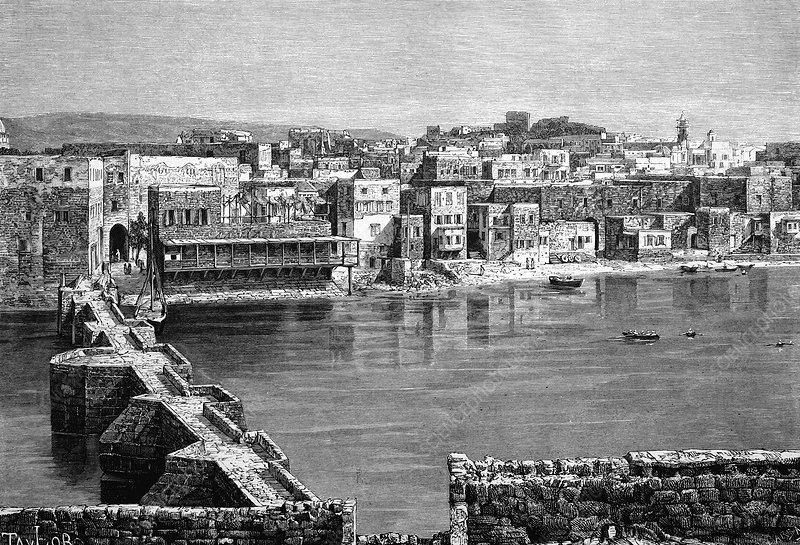 Sidon, Lebanon, 19th century artwork