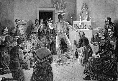 Voodoo ceremony, 19th century artwork