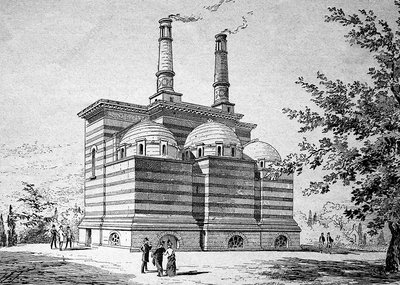 Crematorium, 19th century artwork