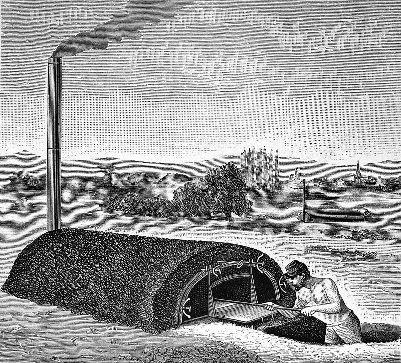 Army oven, 19th century artwork
