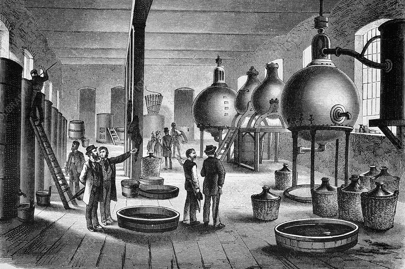 Ink factory, 19th century artwork