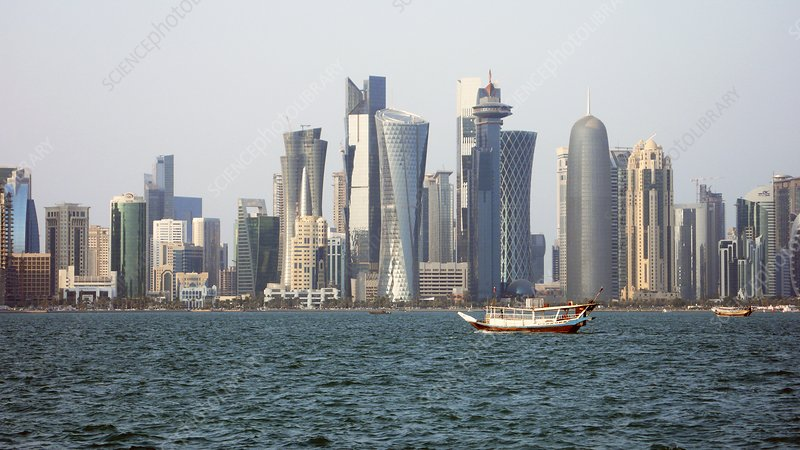 Skyline in Doha, Qatar