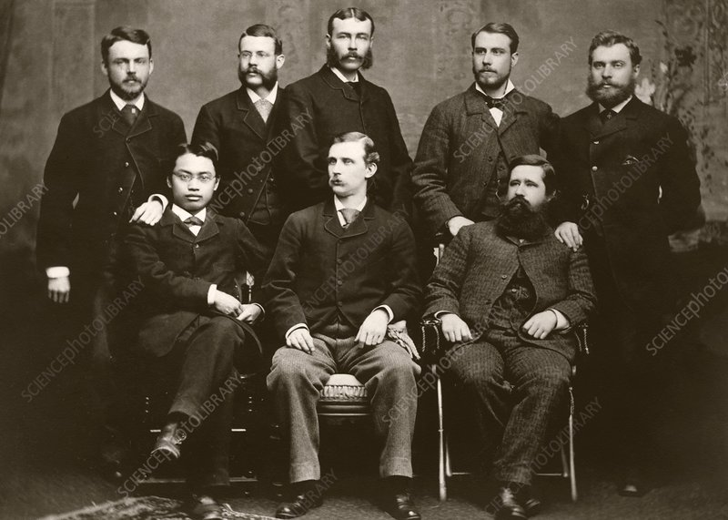 Wilson and Hartwell in group portrait