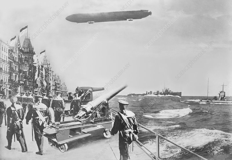 English fleet off Ostend, World War I