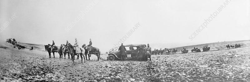 Horse-drawn car, World War I