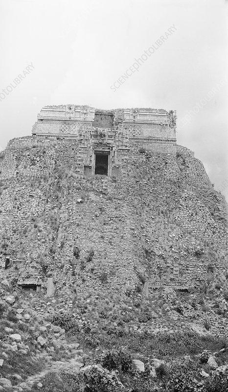 Mayan temple ruins, 1910s
