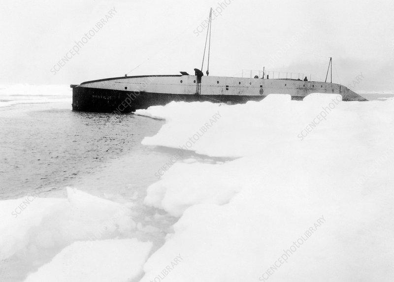 Nautilus submarine in the Arctic, 1931