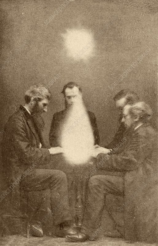 Seance and psychic forces, 1872