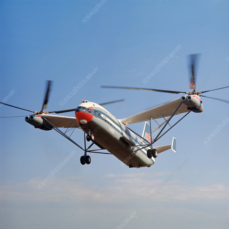 Mil V-12 superheavy-lift helicopter, 1971