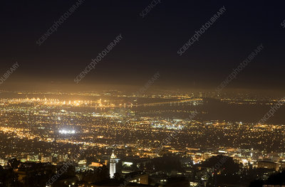 Berkeley at night, USA