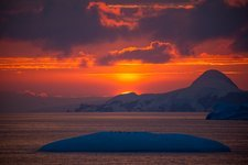 Sunset at 11pm in Antarctica