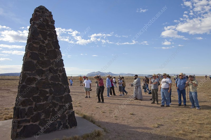 Tourists at Trinity Test Site