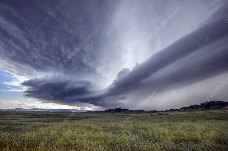 Supercell thunderstorm, Wyoming, USA