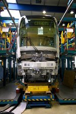 Citadis tram on its assembly line