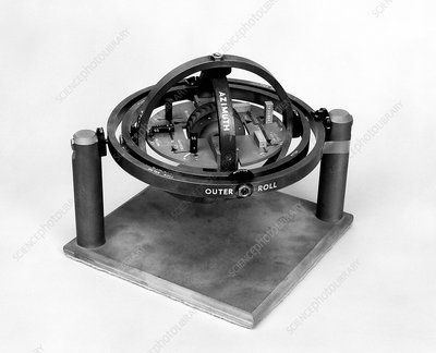 X-15 aircraft gyroscope model, 1960