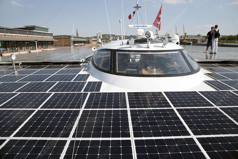 Solar-powered boat