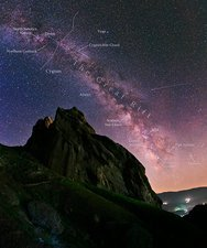Milky Way over Alamut, Iran