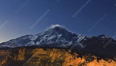 Night sky over Mount Damavand