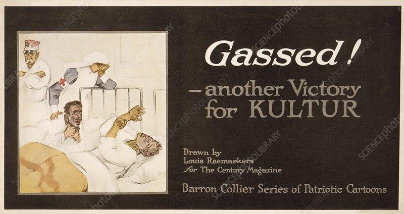 Gassed! World War I cartoon, 1916