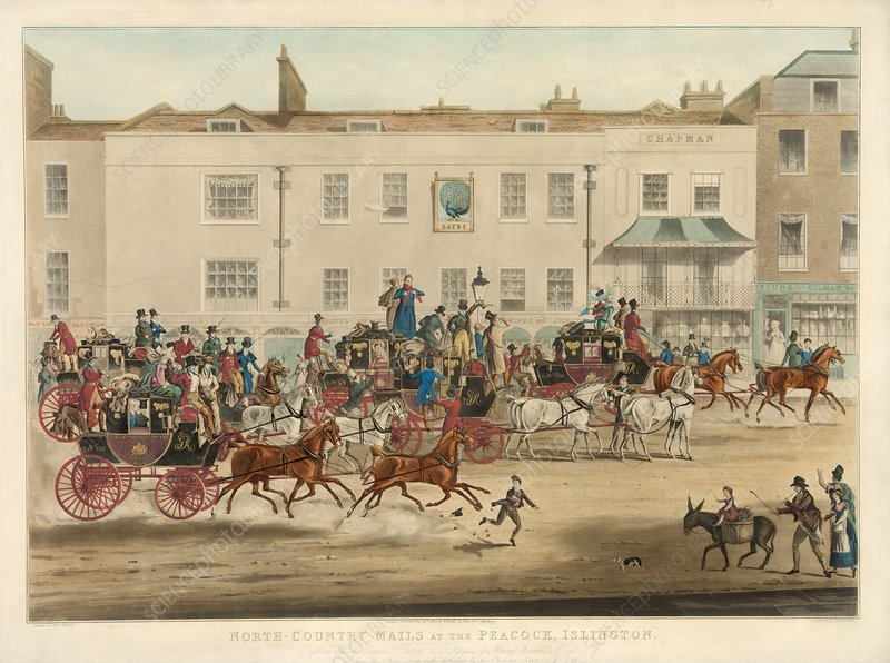 Mail coaches in England, 19th Century