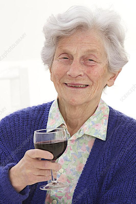 Elderly Person Drinking