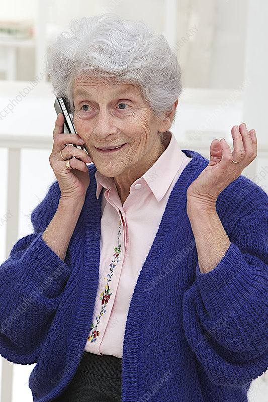 Elderly Person On The Phone