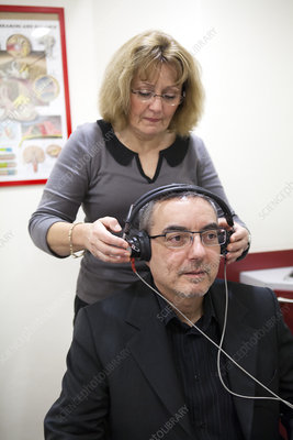 Man Consulting For Hearing-Impaired