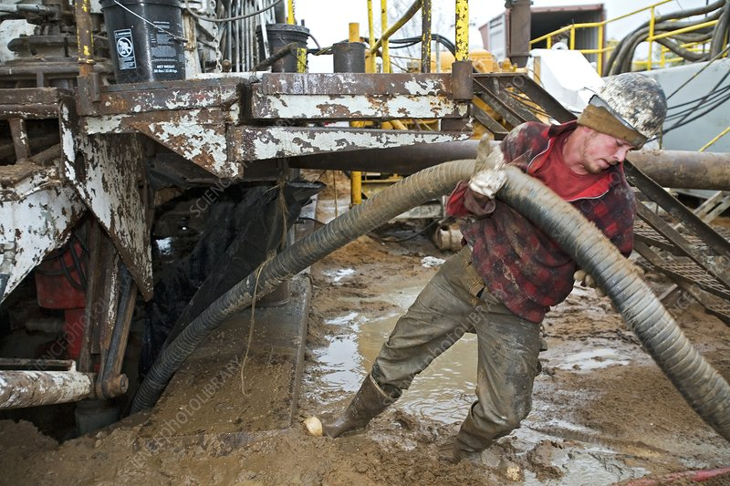 Dismantling a natural gas drilling rig