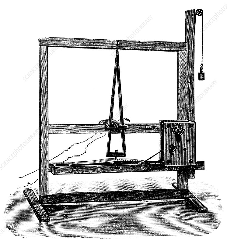 First Morse telegraph, artwork
