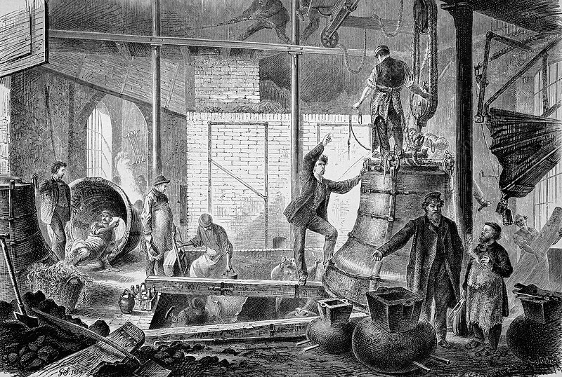 Bell foundry, 19th century artwork