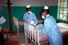 Ebola isolation ward