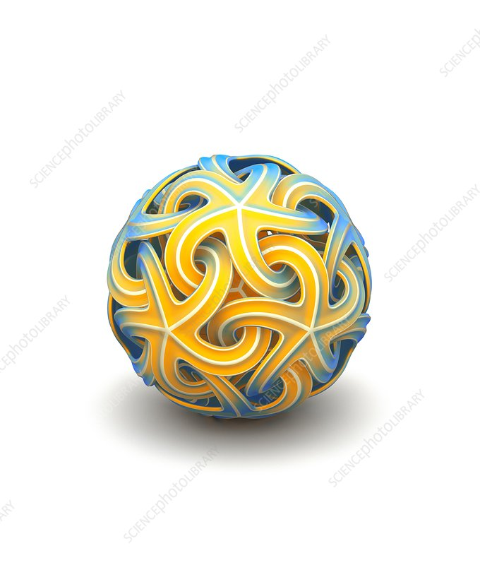 Sphere of interlocking geometries
