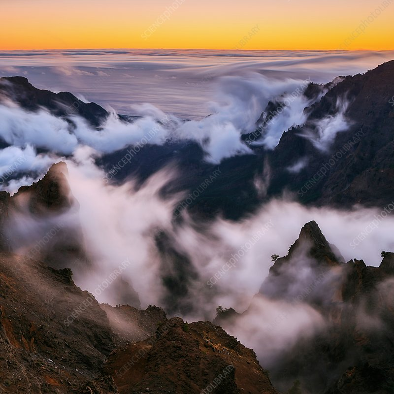 Clouds and peaks, Canary Islands