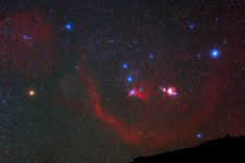 Orion nebulae above the Canary Islands