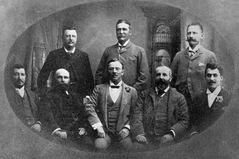 De Beers Directors 1890 Stock Image C021 6570 Science
