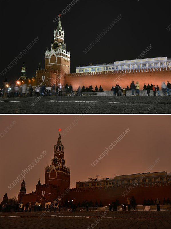 Earth Hour, Moscow, Russia