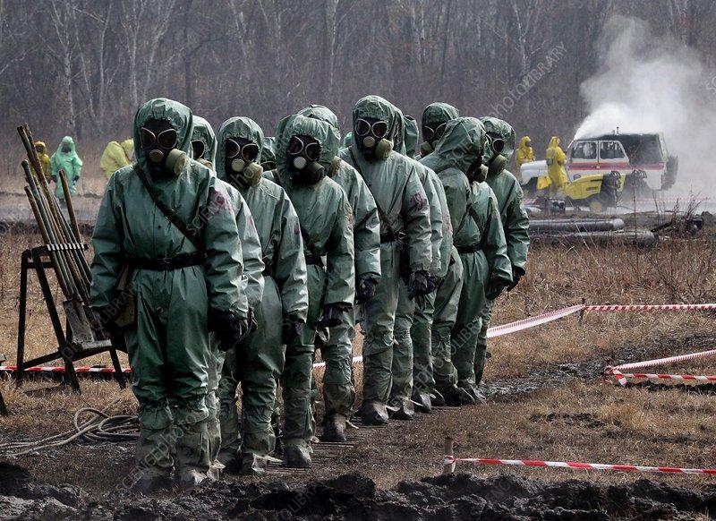 Radiation hazard training exercise