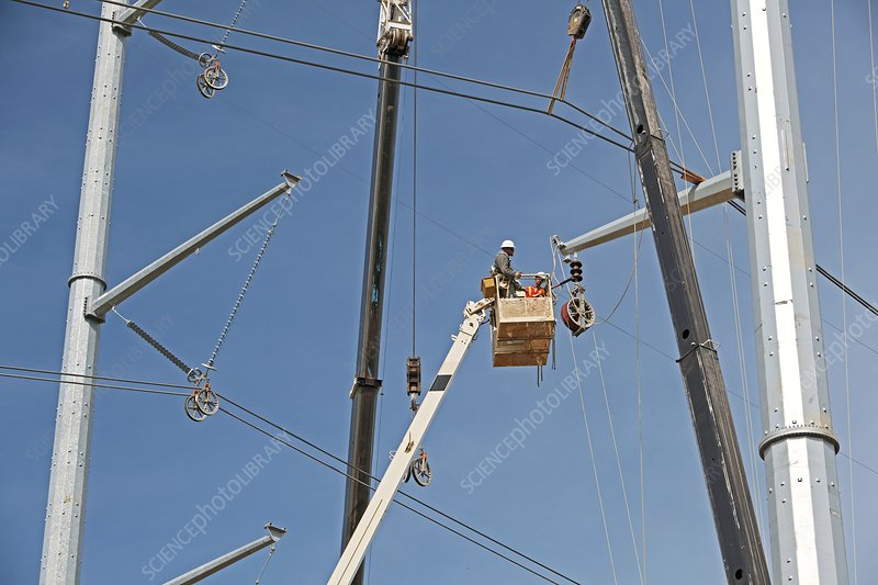 High voltage power line construction