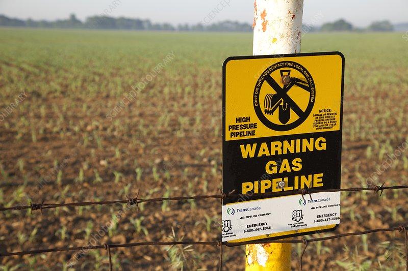 Gas pipeline marker