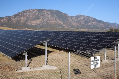 Solar array on landfill site